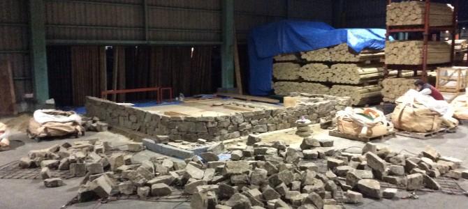 ドライウォーリング|ケラ石自然石積み施工